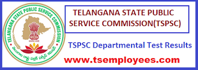 Telangana Departmental Test Results 2016 November 2015 Exam Session  TSPSC Departmental Results 2015 November TS Employees Department wise Departmental Exam results for the exam of November 2015TSPSC Departmental Tests November 2015 Session Notification No.3/2016 Results/ EOT GOT Special Language Test 2016 Results/ tspsc.gov.in results/tspsc.gov.in Departmental Tests results 2016 TS Department Wise District Wise Departmental exam results for the year 2016  Revenue Departmental Results Account Test for Departmetal grade -1 and II DT for the clerk in the police department Agricultural Departmental test results  Fisher Department Mines and Geolegy Non Teach Staff Police Clerk and Fire Service Departmental  Results Forest Department Animal Husbandry Civil Judicial Commercial Tax and Subordinate Jail Dept Excise Department Registration Department and Ministerial Staff