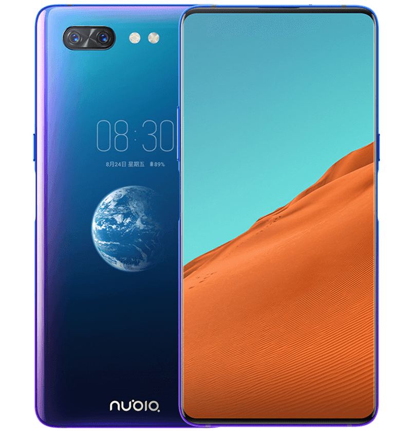 nubia X with no notch full screen display and a secondary screen at the back goes official!