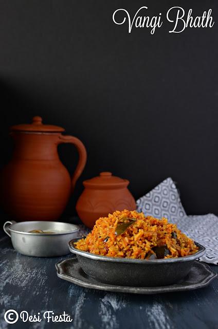 How to make vangi bhath ?