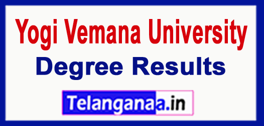 YVU Yogi Vemana University Degree (1st 2nd & 3rd ) 2018 Results