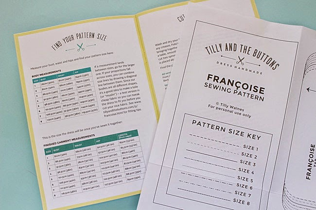 Tilly and the Buttons: #SewingFrancoise: Choose Your Size + Adjust ...