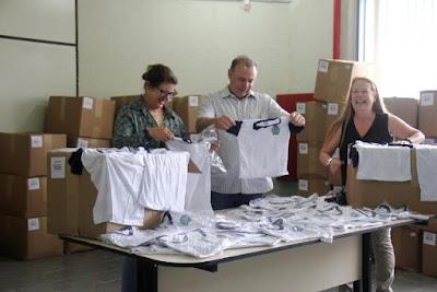 Prefeitura de Registro-SP recebe uniformes escolares que serão entregues a partir desta semana