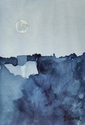 Watercolor - Indigo Night - John Keese