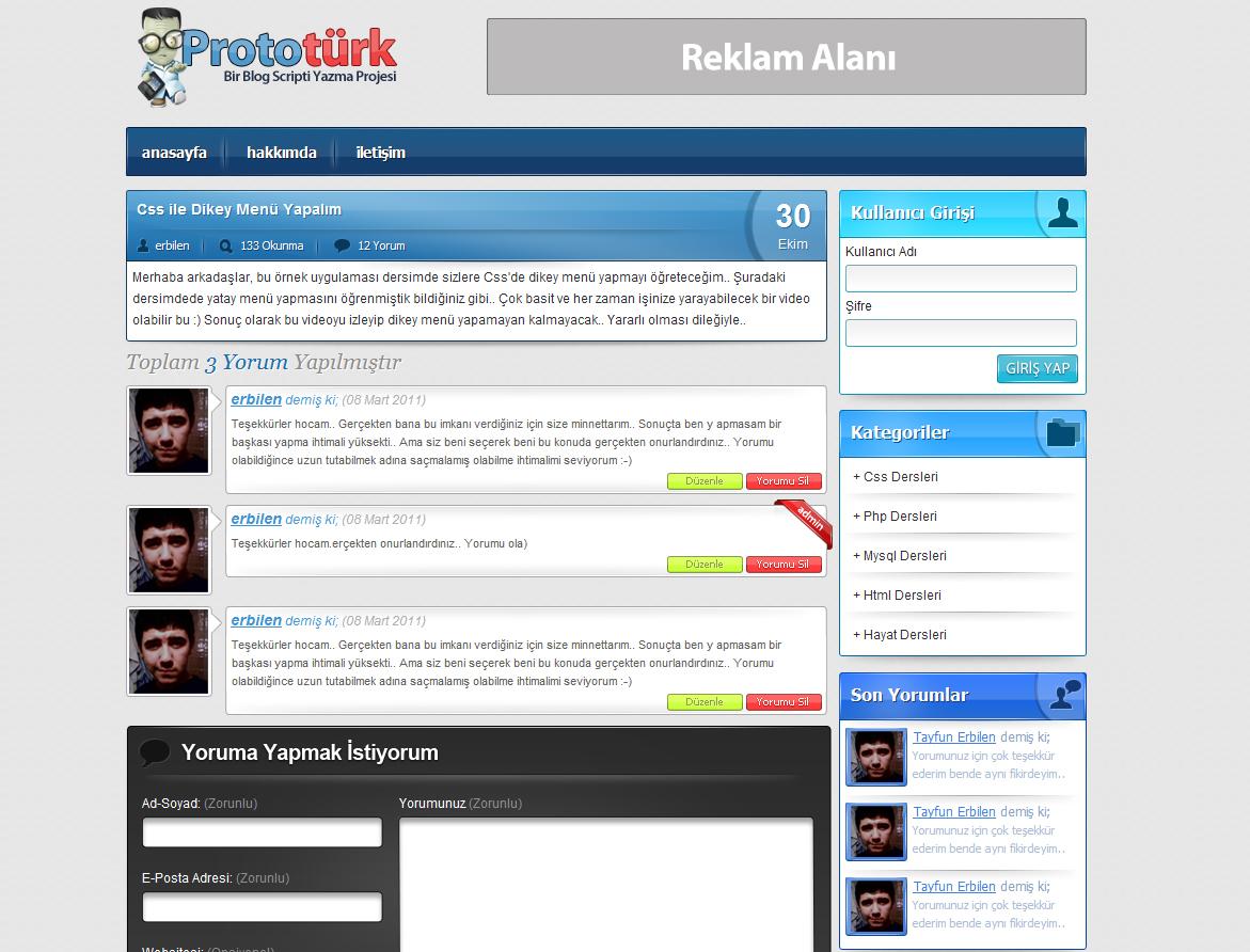 Tasarımlarım ve WordPress Entegreleri