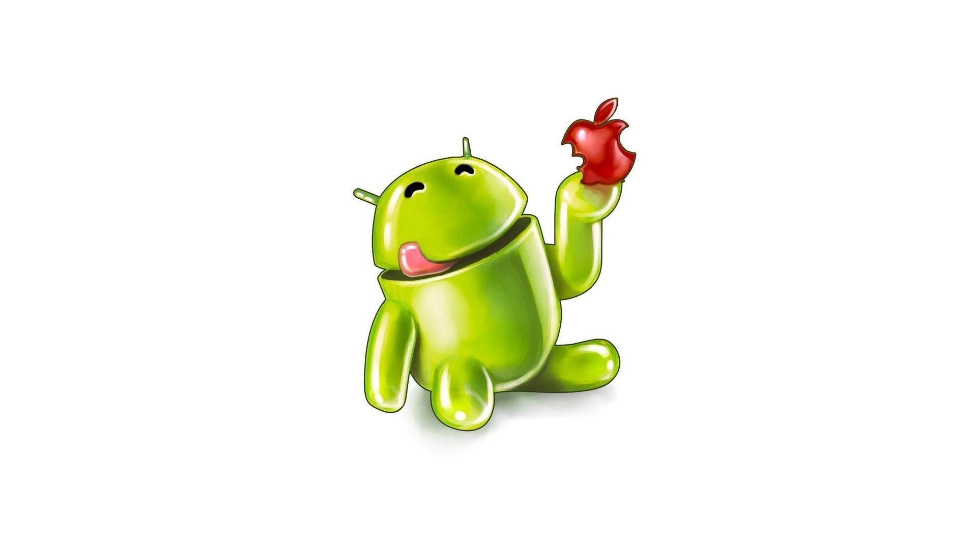 Android eat Apple | Full HD Desktop Wallpapers 1080p