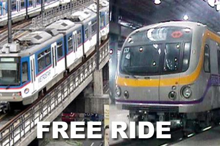 Free LRT, MRT rides for civil servants on Sept. 19