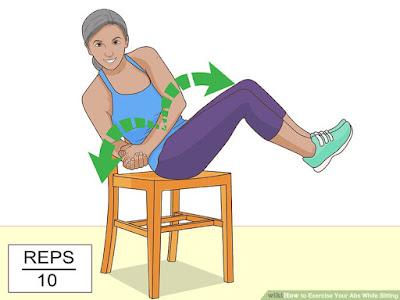 Cách thực hiện động tác nâng gối kết hợp vặn eo