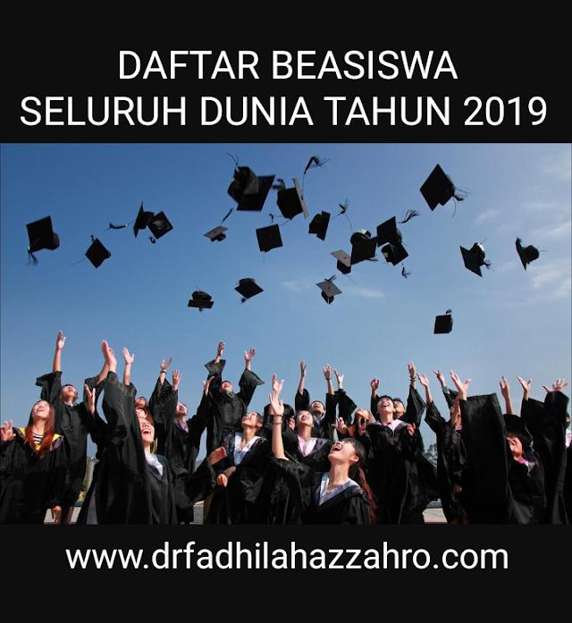 Daftar Beasiswa S1, S2, S3 Seluruh Dunia (Dalam dan Luar Negeri) Tahun 2019