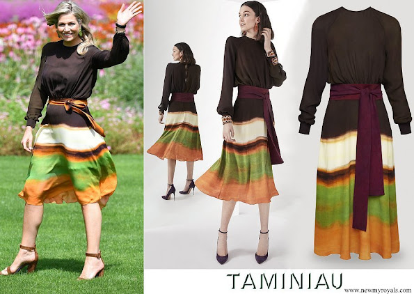 Queen Maxima wore Jan Taminiau short dress