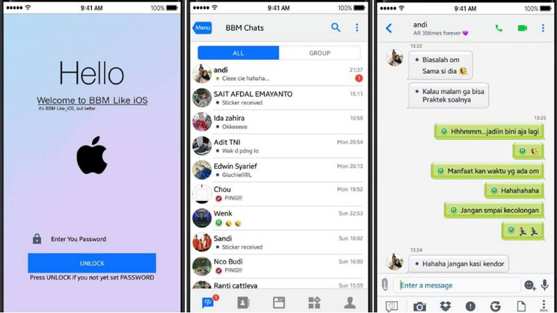 MOD BBM LIKE IOS V3.3.2.31