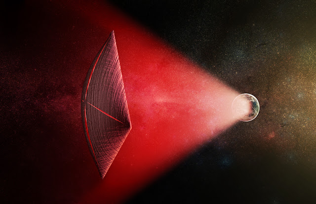 Could fast radio bursts be powering alien probes?