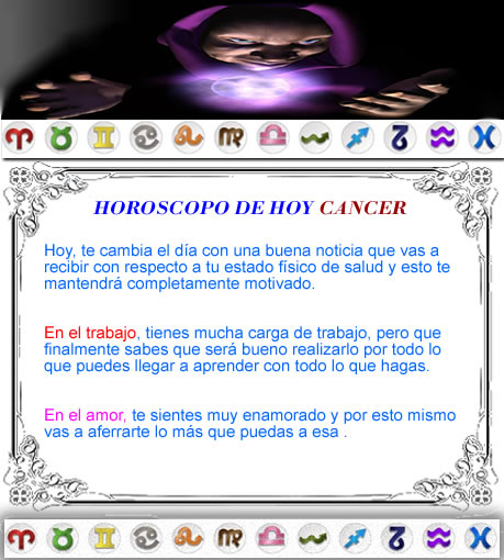 horoscopo cancer
