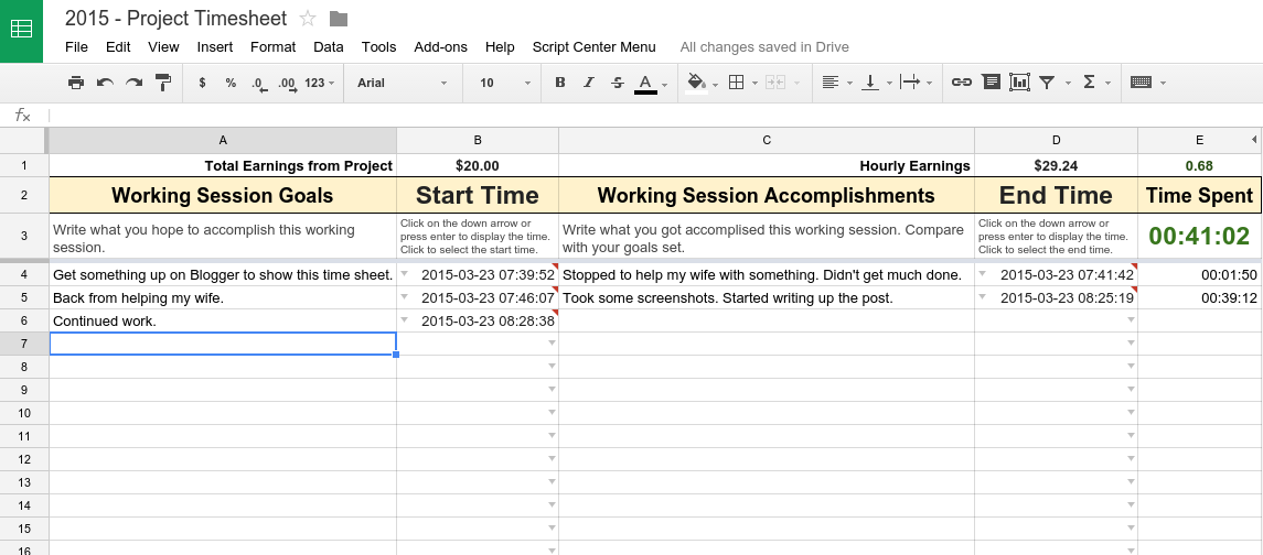 excel templates time tracking