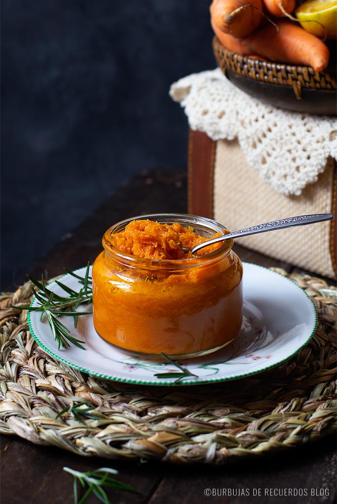 Mermelada de zanahoria con naranja y romero: Una mermelada que te va a sorprender por su exquisito sabor, aroma y textura.