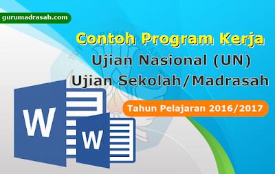 Contoh Program Kerja Ujian Nasional