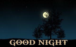 Dark night full moon with good night wishes