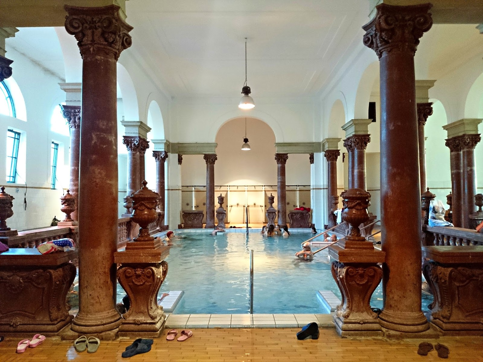 inside szechenyi thermal baths budapest