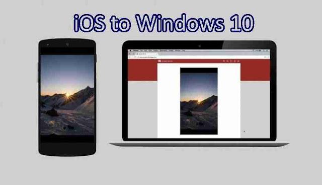 Menampilkan Layar iPhone iOS di PC Laptop Windows