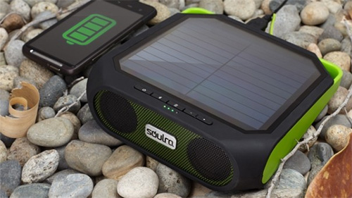 Enceinte solaire nomade Soulra Rugged Rukus