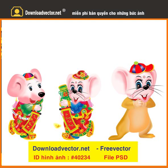vector 2020 Con chuột vàng in lịch miễn phí