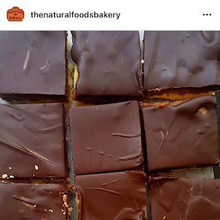 The Natural Foods Bakery vegan salted caramel squares