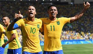 brasil pecundangi argentina 3-0