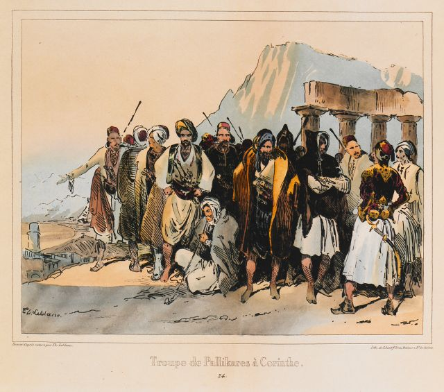 """Palikaria"" and heads of irregular troops at the temple of Apollo in Ancient Corinth."