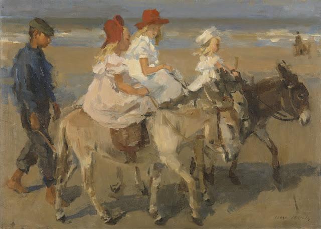 Isaac Israels - Montando en burro por la playa - 1898-1900