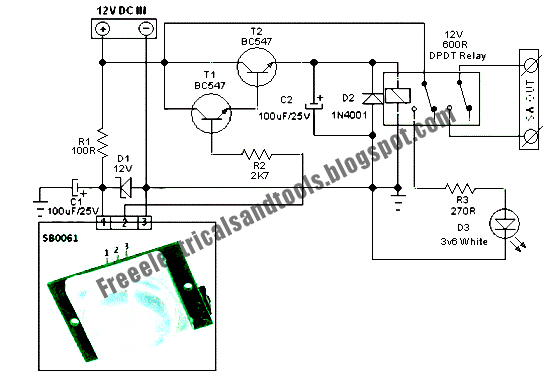 Free Schematic Diagram: Security Light & Switch Circuit