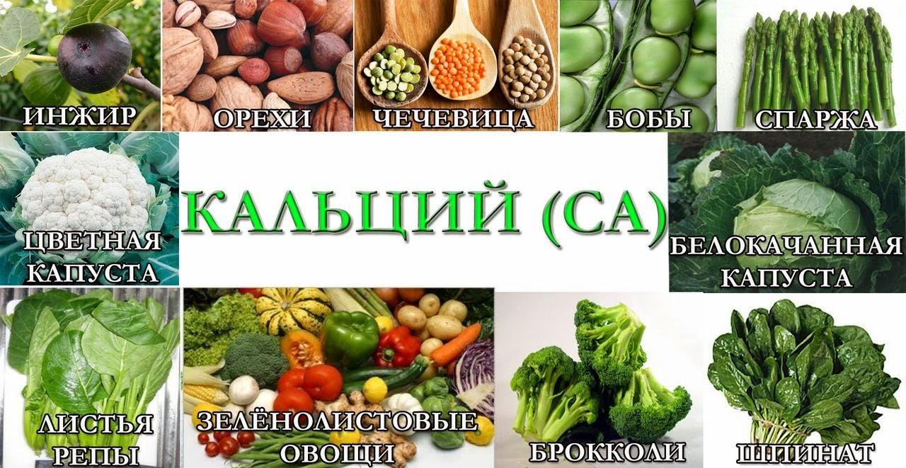 Где больше кальция в продуктах