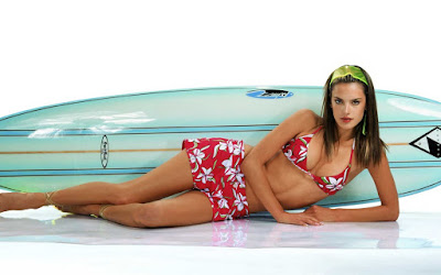 Alessandra Ambrosio Victoria Secret's Model HD Wallpaper 002,Alessandra Ambrosio HD Wallpaper, hot pose on boat