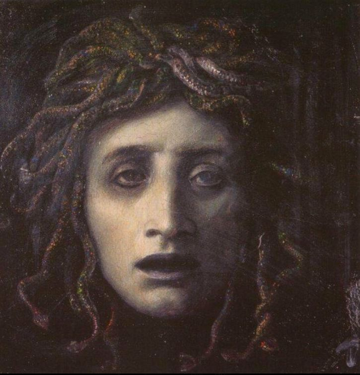 Arnold Böcklin 1827-1901 | Swiss Symbolist painter | Medusa