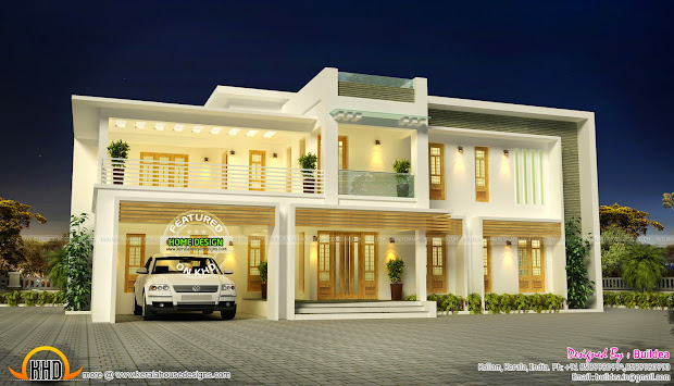 Contemporary Posh Villa - Kerala Home Design And Floor Plans