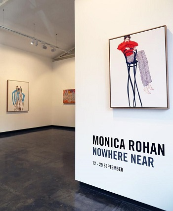 Monica Rohan - Nowhere Near, installation view - Sophie Gannon Gallery, Australia
