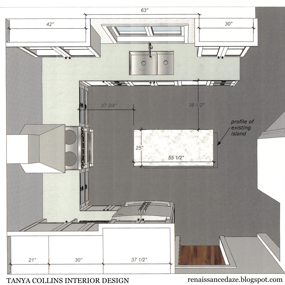 Renaissance daze kitchen renovation updating a u shaped for How to design a kitchen floor plan