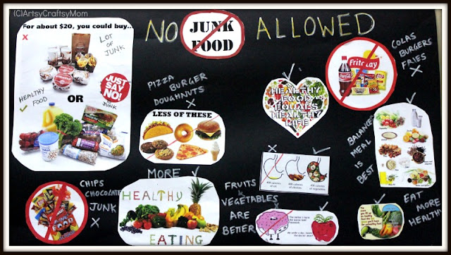 Say no to junk food poster for school artsy craftsy mom for 3d cuisine boe