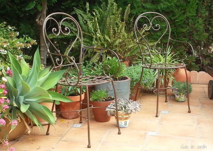 Jardín en macetas