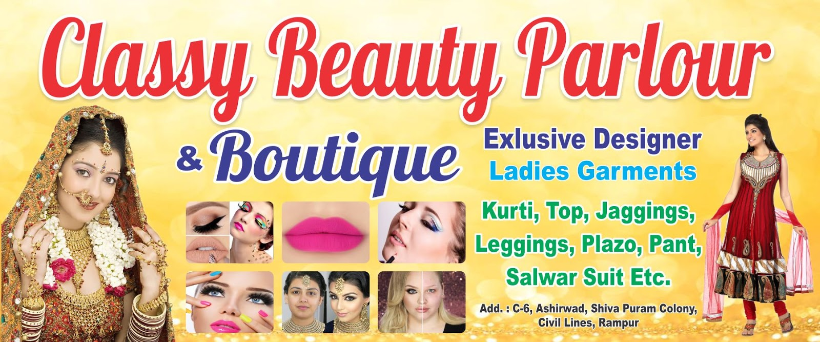 Ladies Garment Banner Design World Apparel Store