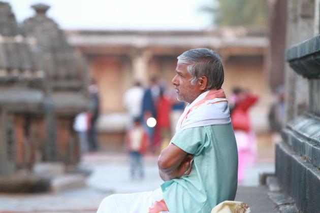 Side view portrait from Belur Chennakeshava temple, Karnataka