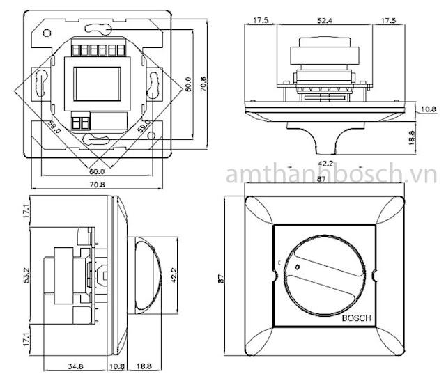 Điều khiển âm lượng Bosch LBC 1400/20