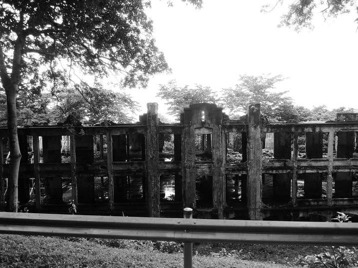 Front of the middleside barracks at Corregidor Island