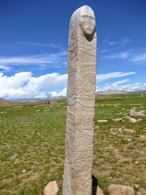Deerstones en el yacimiento de Uushigiin Uver