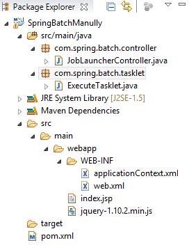 Execute Batch Job Manually in Spring MVC