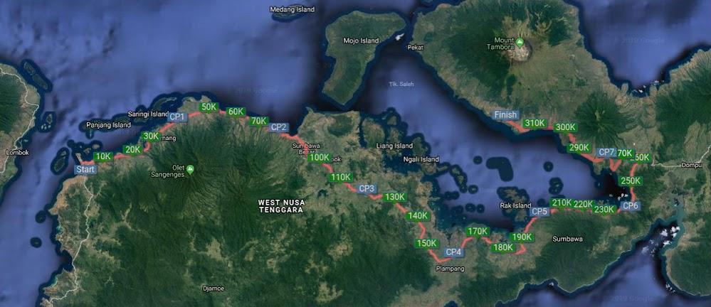 Rute Kompas Tambora Challenge - Lintas Sumbawa 320K • 2019