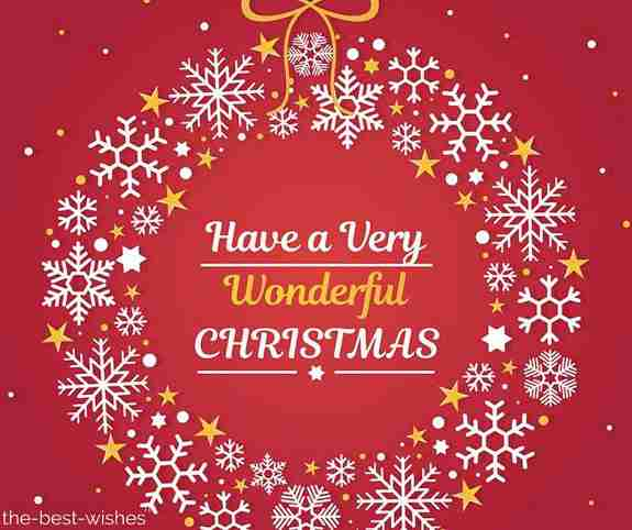 have a very wonderful christmas