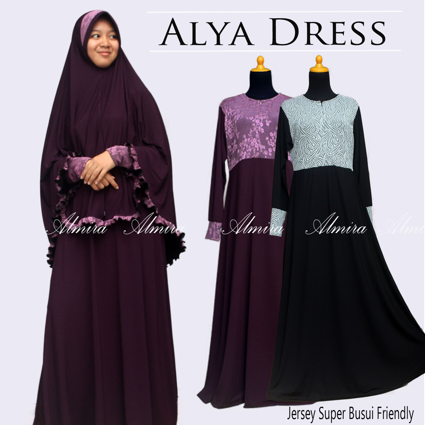 Baju Gamis Muslim Murah Busui Friendly Alya Dress Griya
