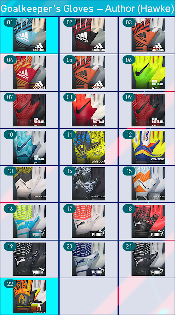PES 2018 Glovepack by Hawke
