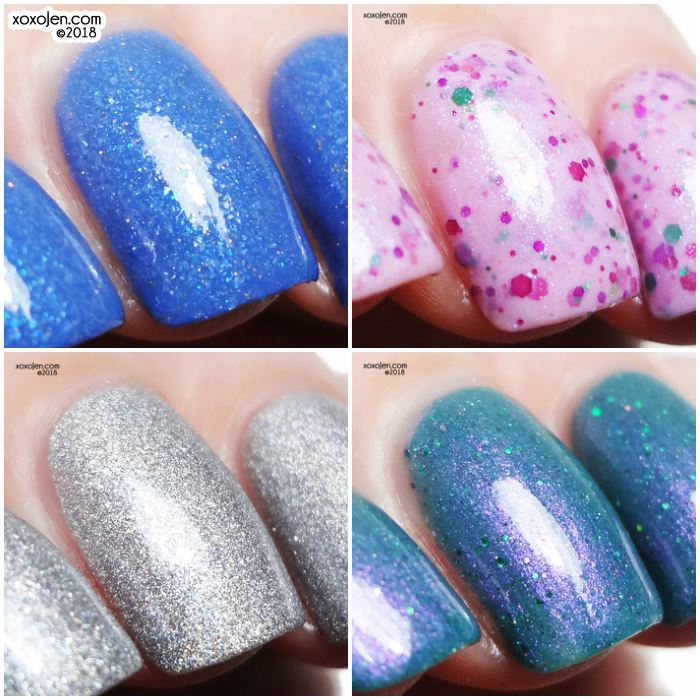 xoxoJen's swatch collage of Shimmer Me Box April Showers