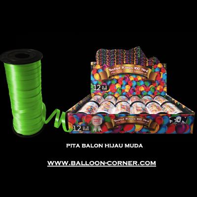 Pita Balon Warna Hijau Muda