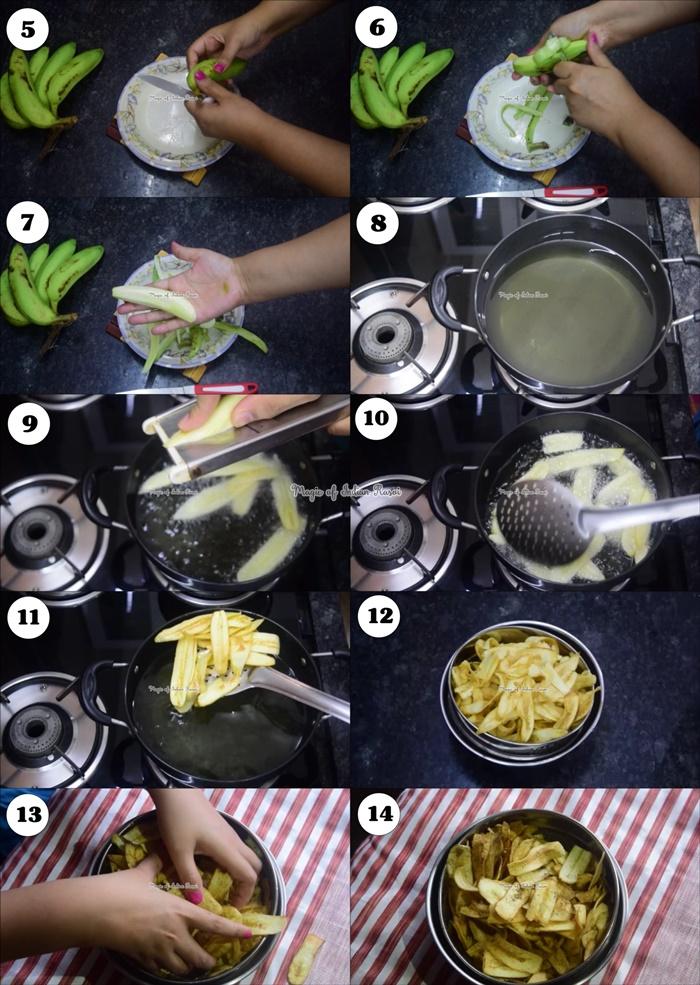 Raw Banana Chips - Wafers - Navratri Vrat Recipe - केले के वेफर्स - नवरात्री व्रत स्पेशल रेसिपी - Priya R - Magic of Indian Rasoi